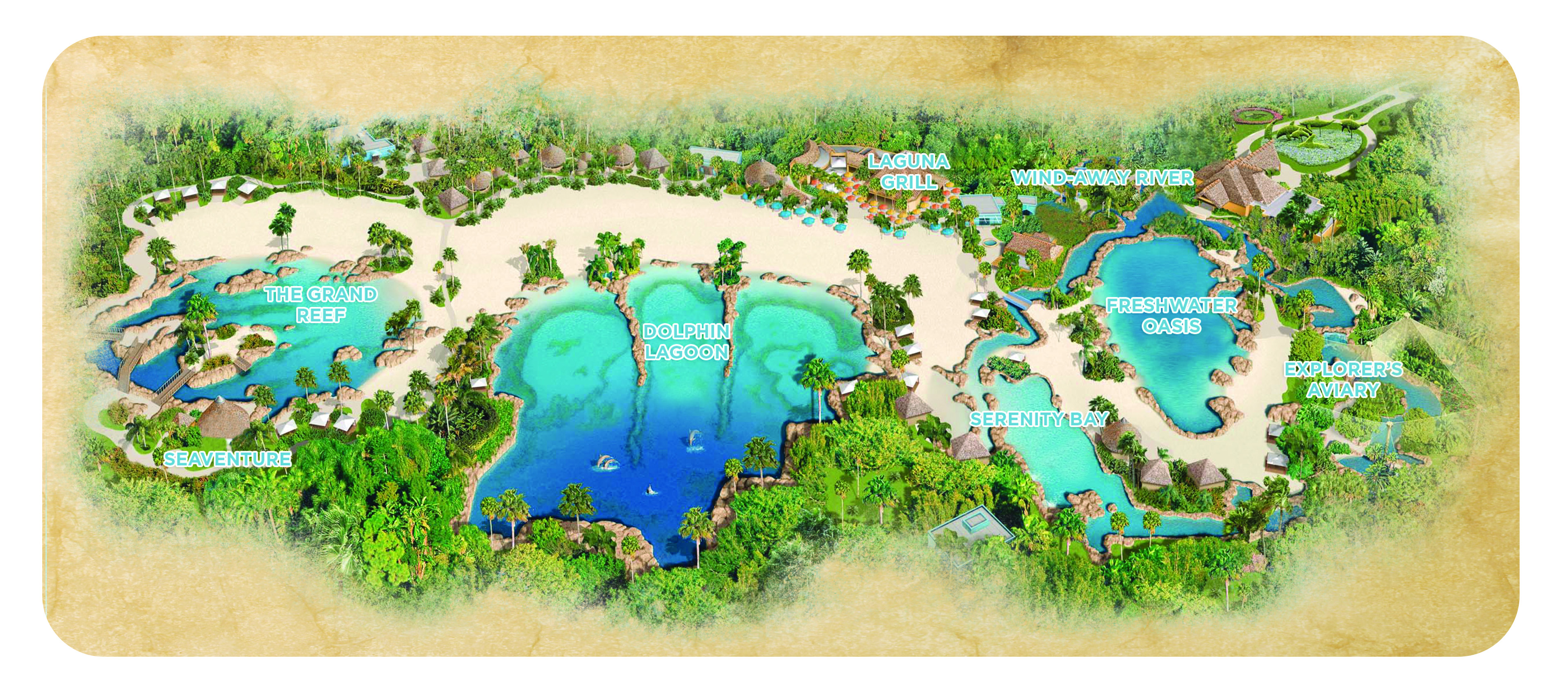 Discovery Cove park map
