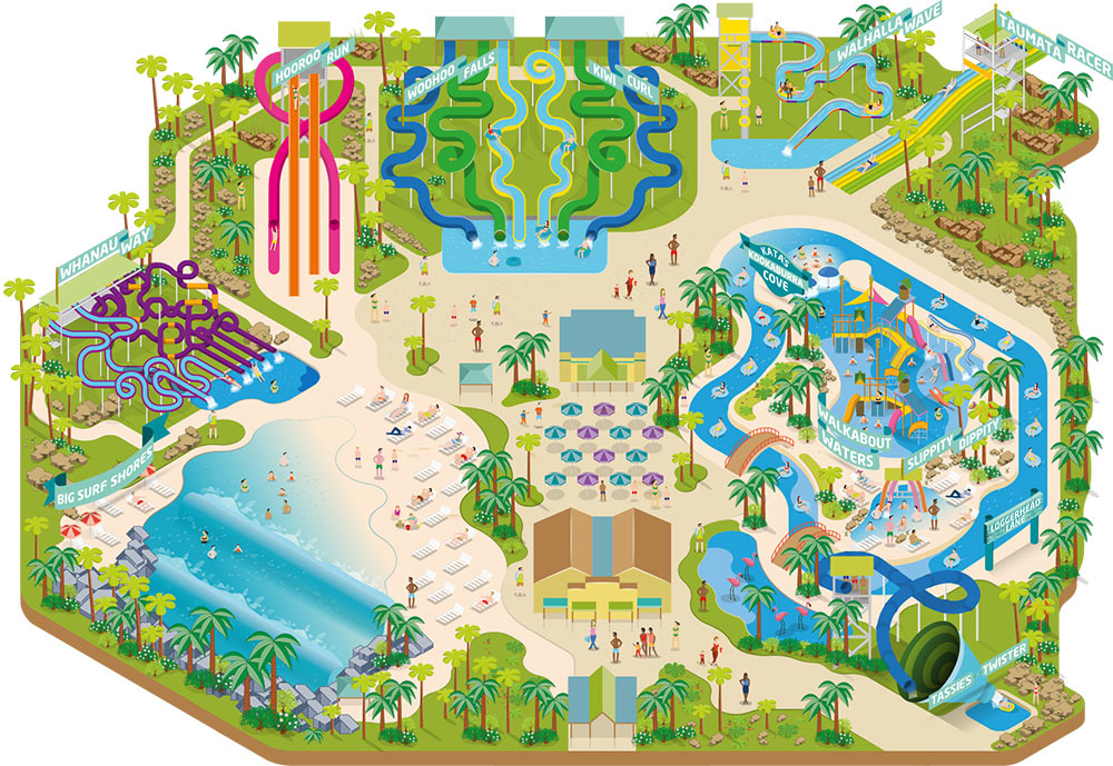 Aquatica park map