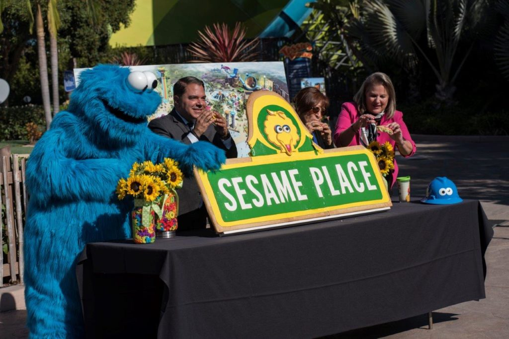 Cookie Monster joins civic leaders to break ground on Sesame Place San Diego