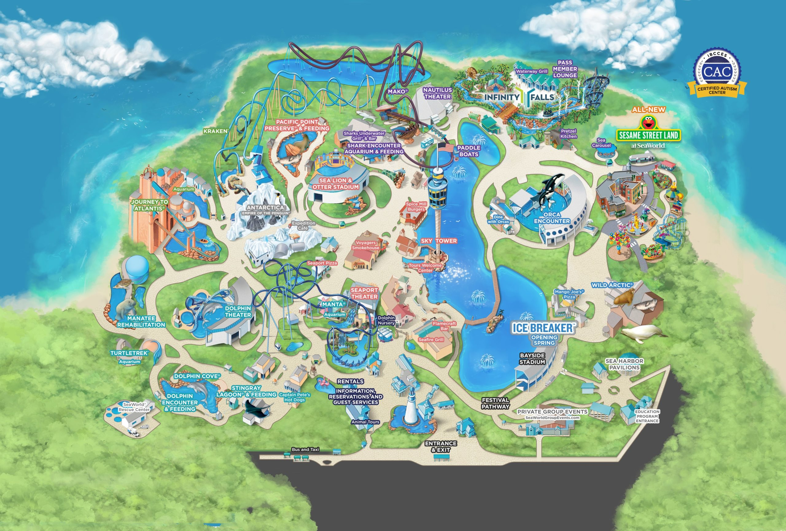 SeaWorld park map